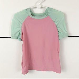 HANNA ANDERSSON Short Sleeve Rashguard Size 100 4